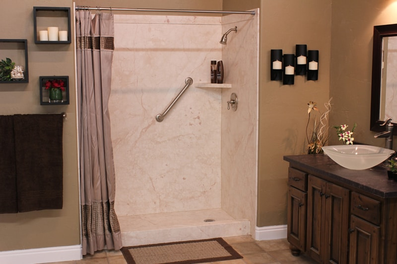 Our Professional Installers Will Remodel Your Shower To Include All New Paneling With You Choice Of Color And Design As Well As New Shower Heads According